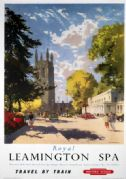 Royal Leamington Spa, Warwickshire. Vintage BR (WR) Travel Poster by Jack Merriot